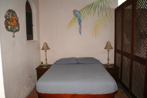 master bedroom at applesurf villa tortola, bvi