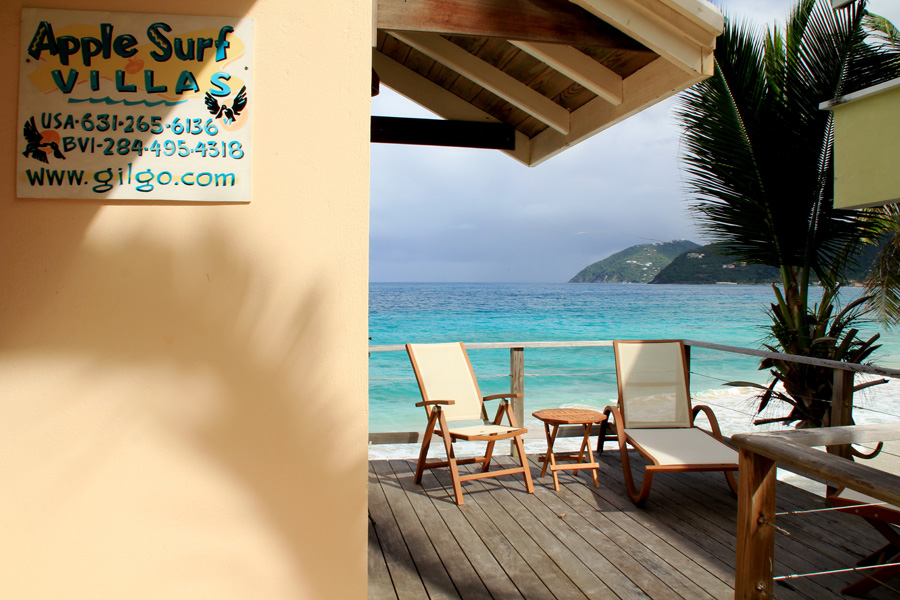 sweet georgia brown! a great place to chill for a tortola surfing vacation, sun, sand and surf right in front of you